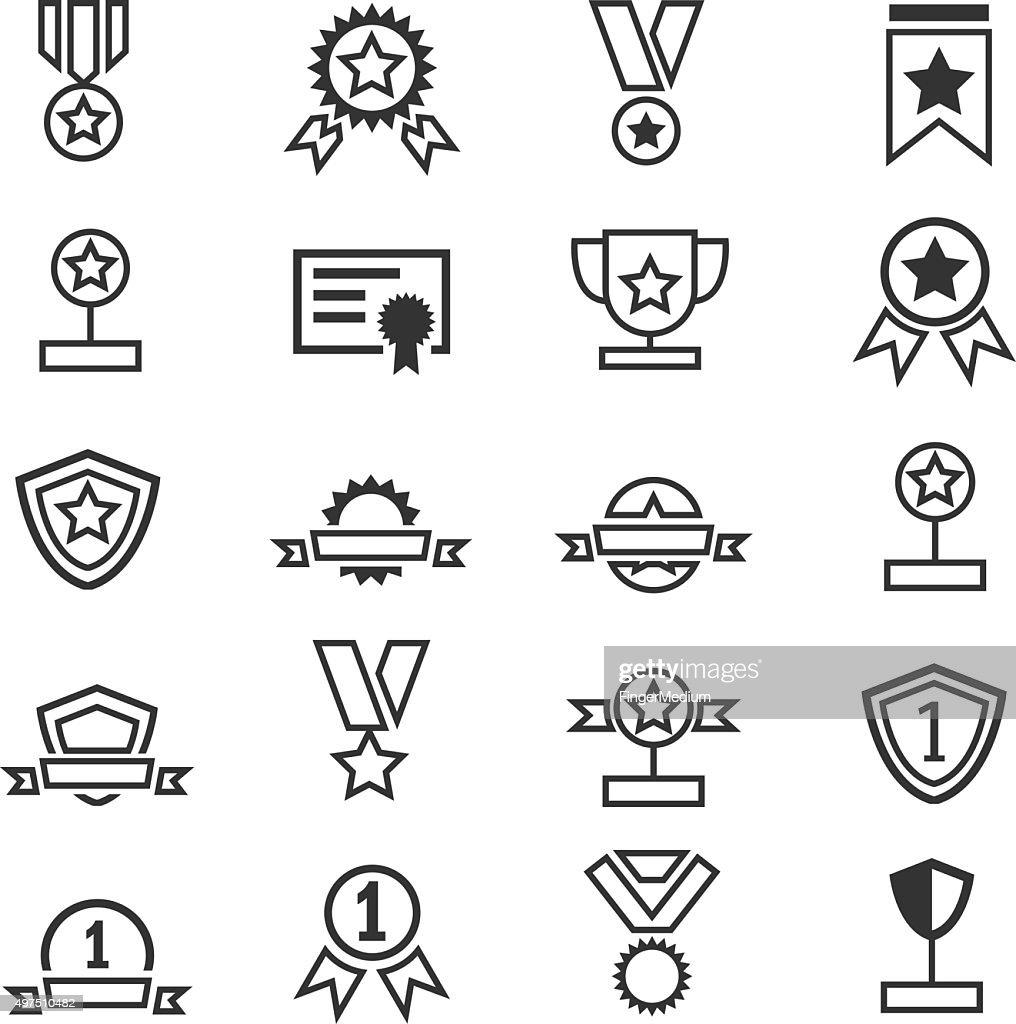 Awards icons set : stock illustration