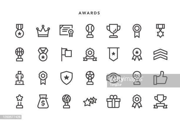 auszeichnungen icons - krone kopfbedeckung stock-grafiken, -clipart, -cartoons und -symbole