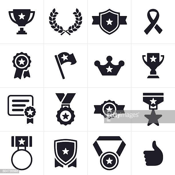 awards icons - military stock illustrations, clip art, cartoons, & icons