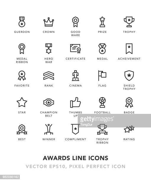 ilustraciones, imágenes clip art, dibujos animados e iconos de stock de premios iconos de línea - rollo de cine