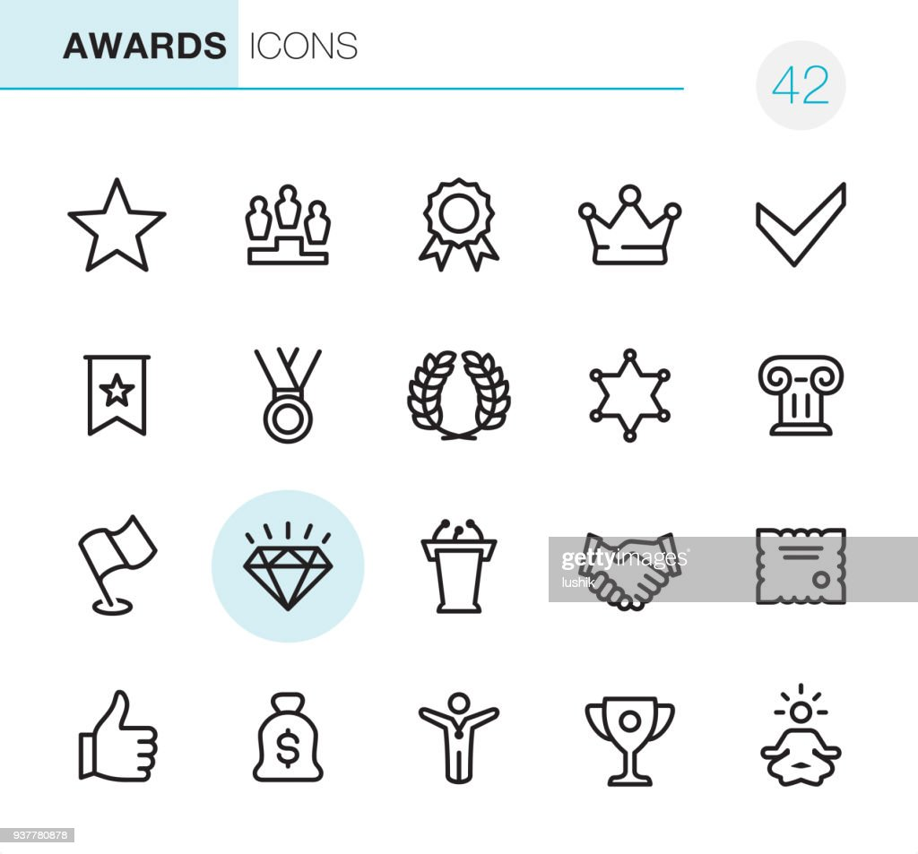 Awards - Pixel Perfect icons : stock illustration