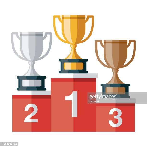 illustrazioni stock, clip art, cartoni animati e icone di tendenza di icona del podio dei premi su sfondo trasparente - podio del vincitore