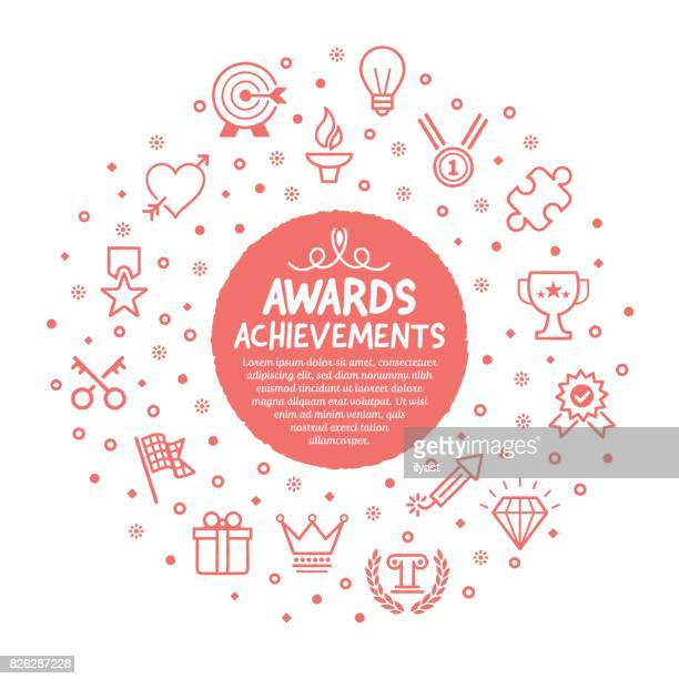 awards poster - incentive stock illustrations, clip art, cartoons, & icons