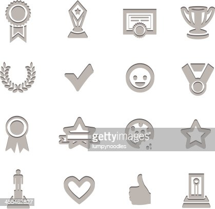Awards Prize Imprinted Symbols High-Res Vector Graphic