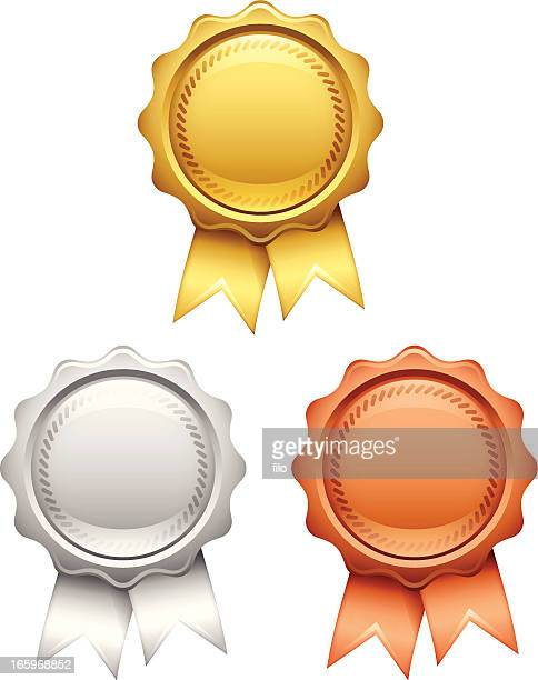 awards - silver metal stock illustrations