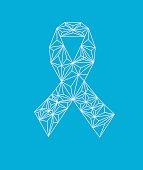 Awareness ribbon low poly design