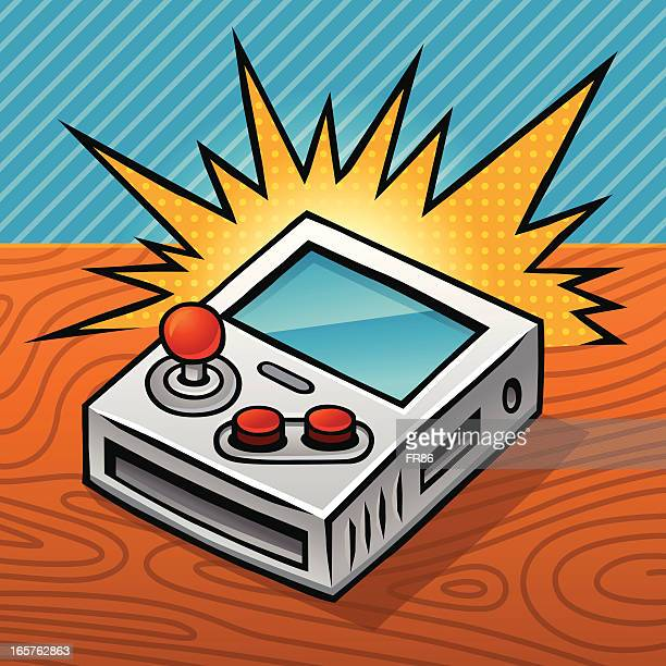 awesome handheld game - joystick stock illustrations, clip art, cartoons, & icons