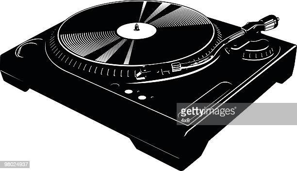 awesome turntable - gramophone stock illustrations, clip art, cartoons, & icons