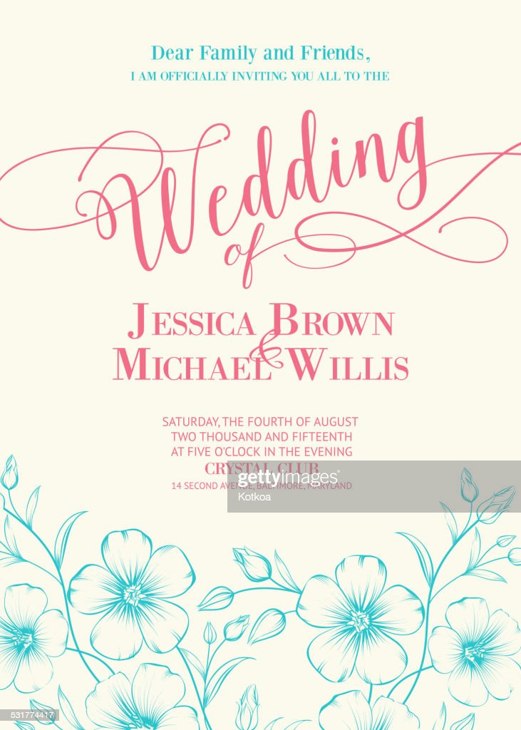 Awesome wedding invitation.