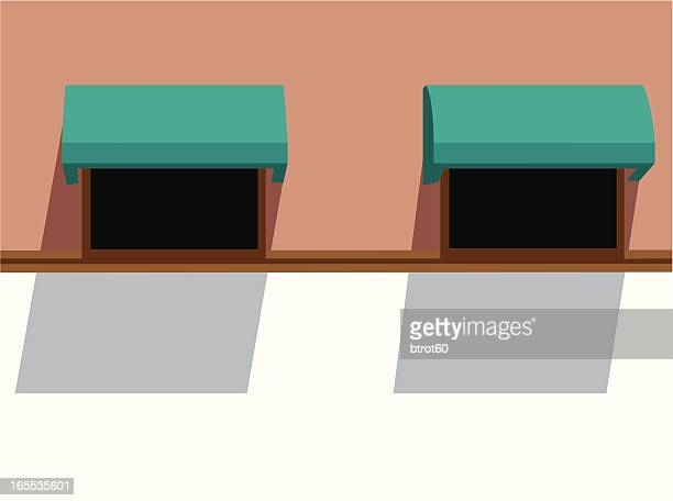 awnings - awning stock illustrations, clip art, cartoons, & icons