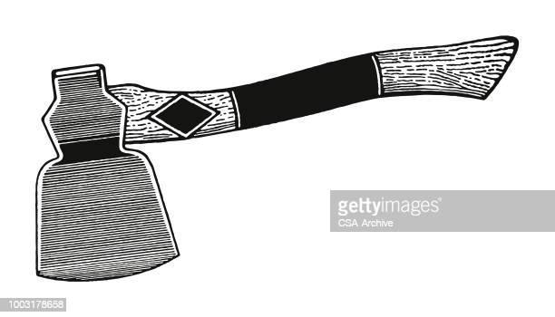 ax - hatchet stock illustrations, clip art, cartoons, & icons