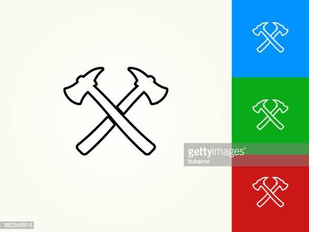 Axe Black Stroke Linear Icon
