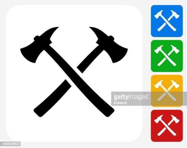 Axe Icon Flat Graphic Design
