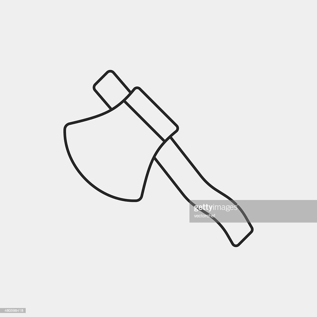 axe line icon : Vector Art