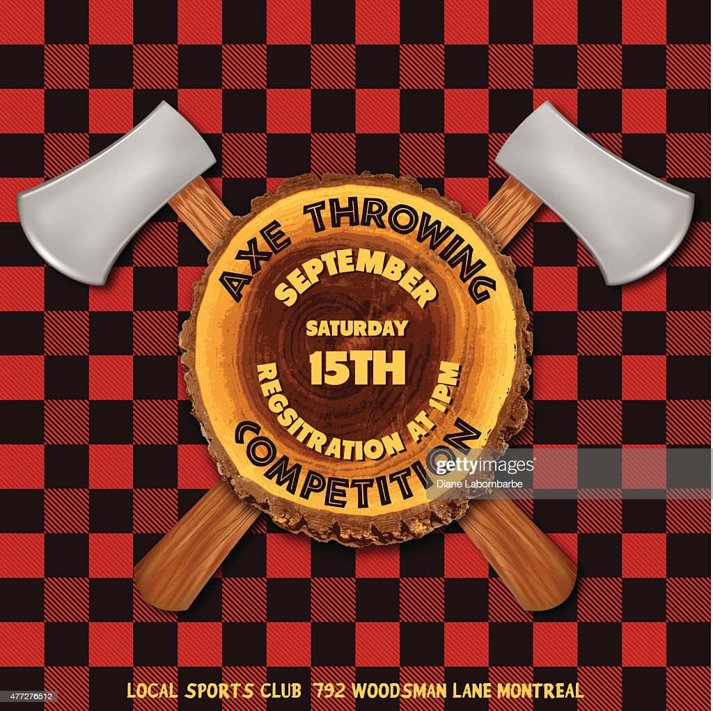 Axe Throwing Competition Flyer