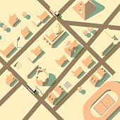 axonometric city view