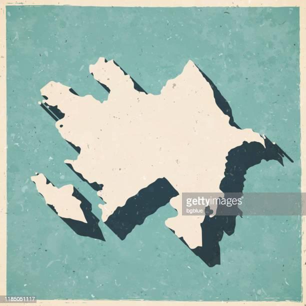 azerbaijan map in retro vintage style - old textured paper - azerbaijan stock illustrations