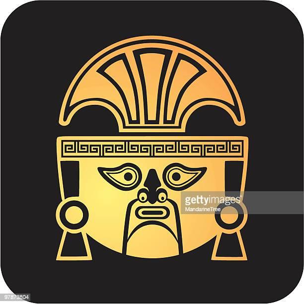 aztec ai apaec mask - ancient civilization stock illustrations, clip art, cartoons, & icons