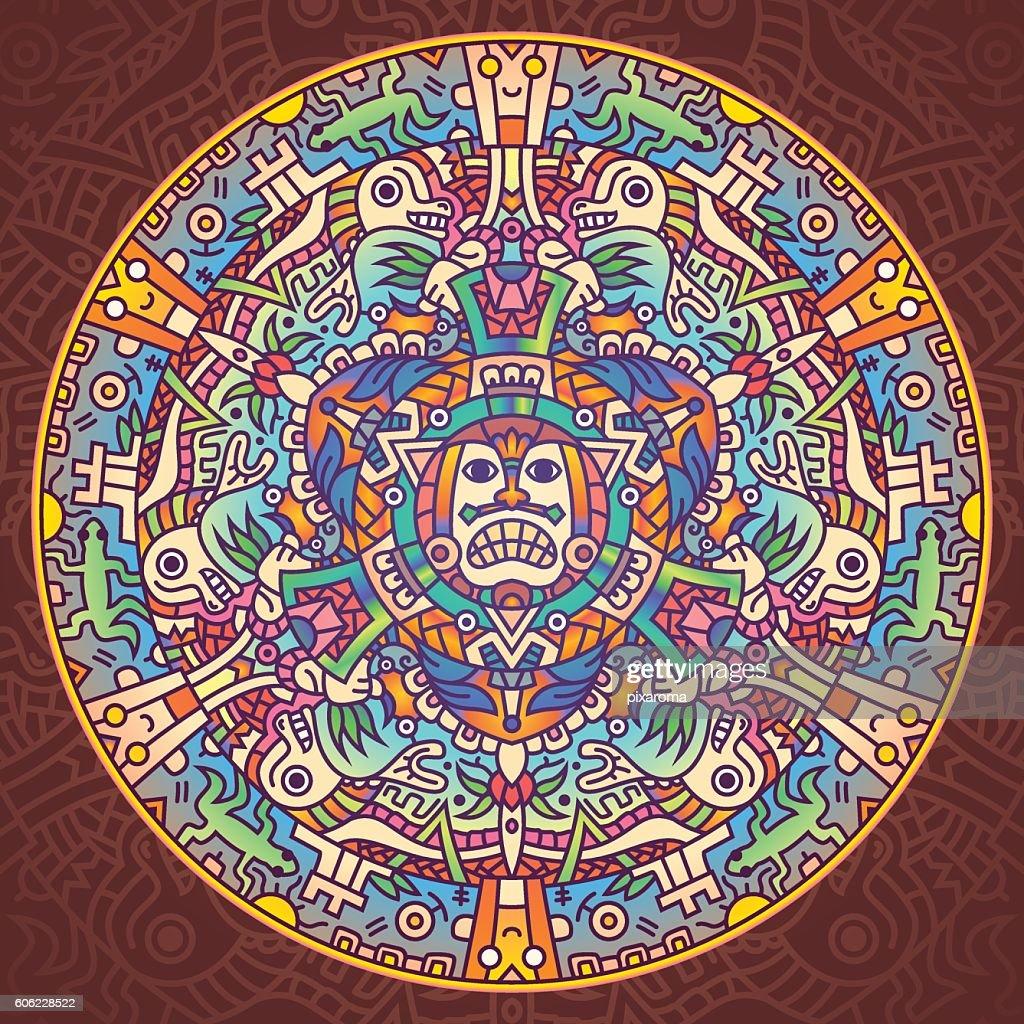 Aztec Ancient Civilization Mandala