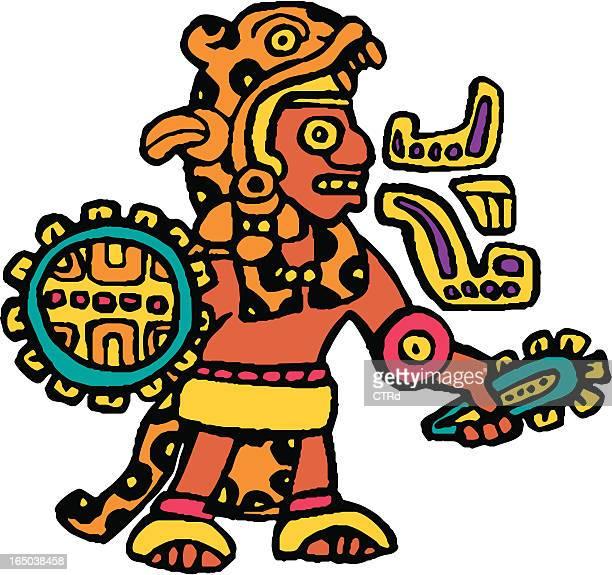 ilustrações de stock, clip art, desenhos animados e ícones de asteca jaguar knight - astecas