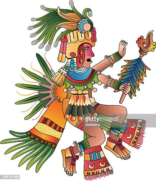 Aztec Schamane Vektor-illustration
