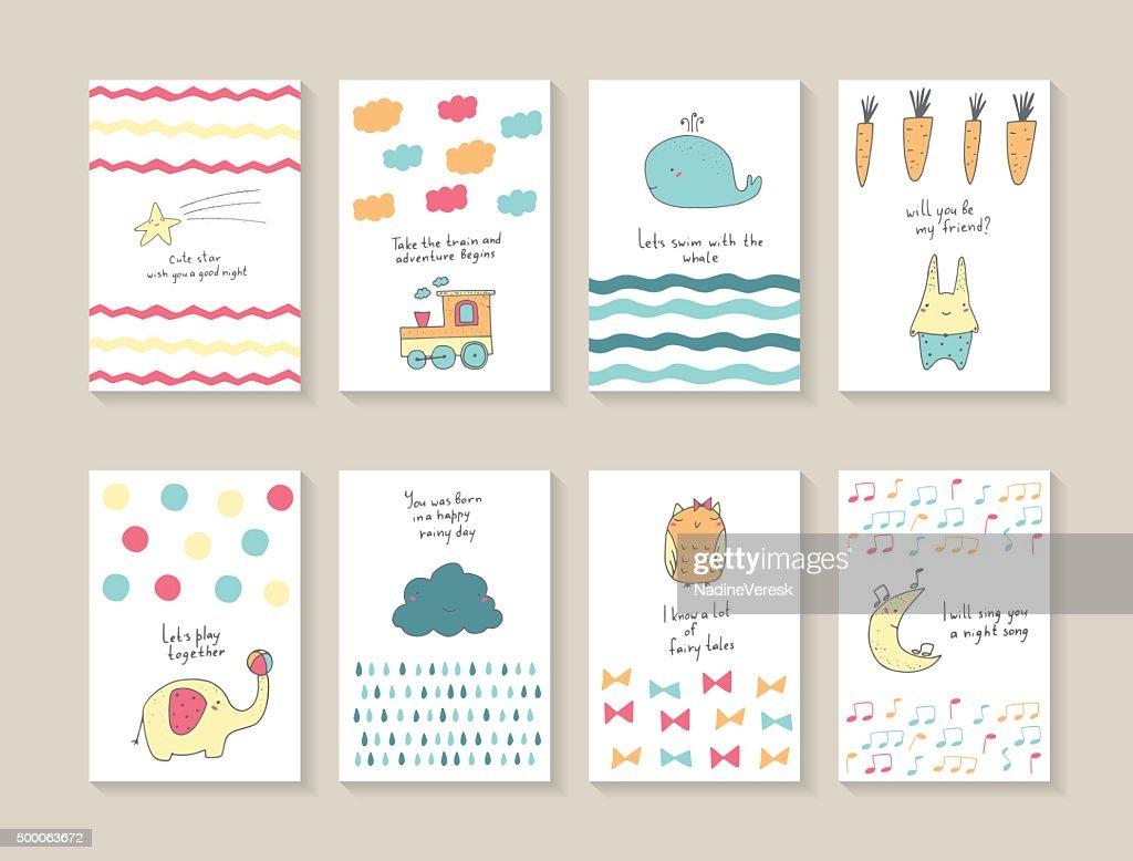 Babe shower postcards