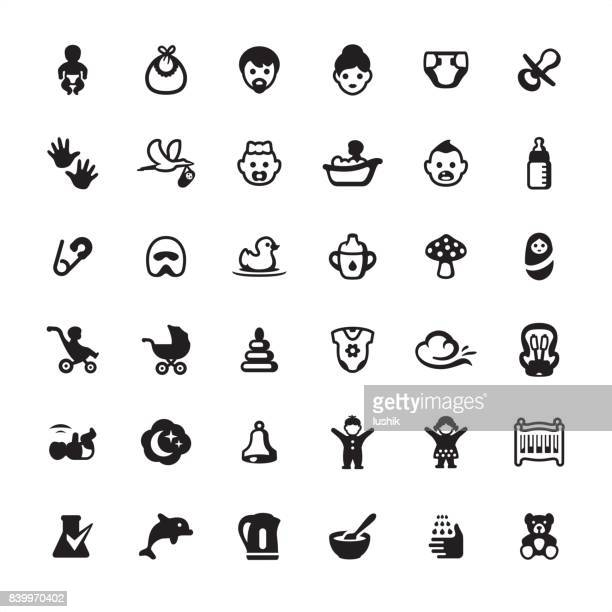 Babies and Baby Goods - icons set