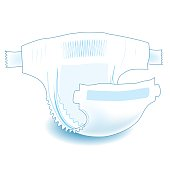 Baby absorbent diaper. Realistic vector illustration