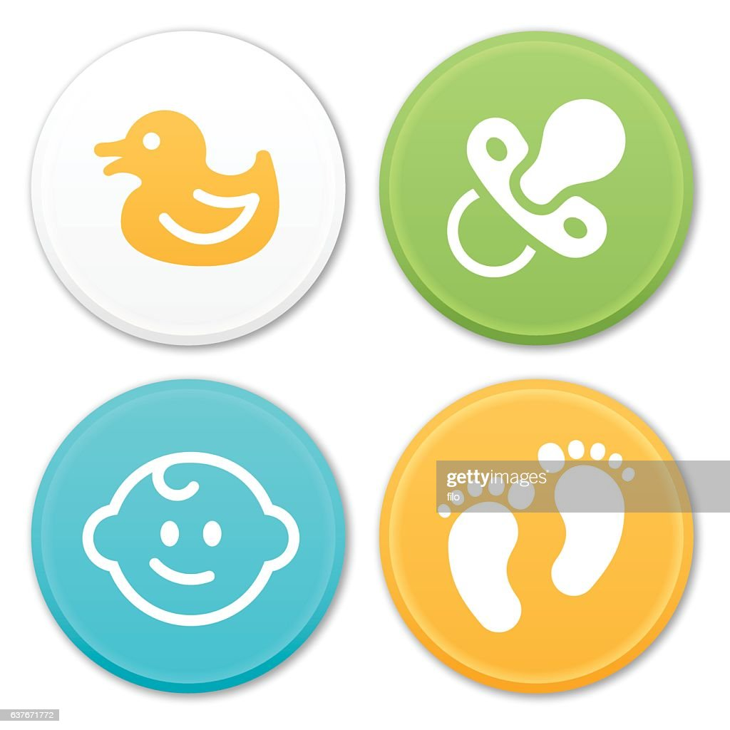 Baby and Infant Icons and Symbols : stock illustration