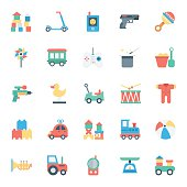 Baby and Kids Colored Vector Icons 4