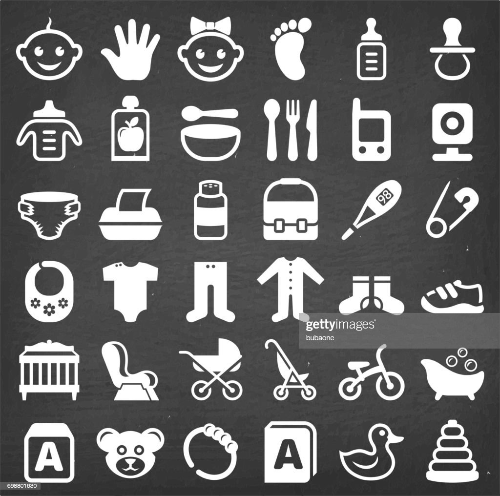 Baby and newborn royalty free vector icon set