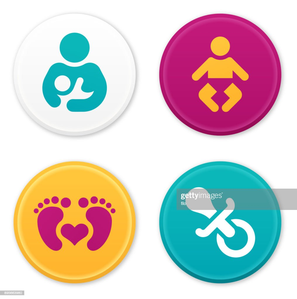 Baby and Parent Icons and Symbols : stock illustration