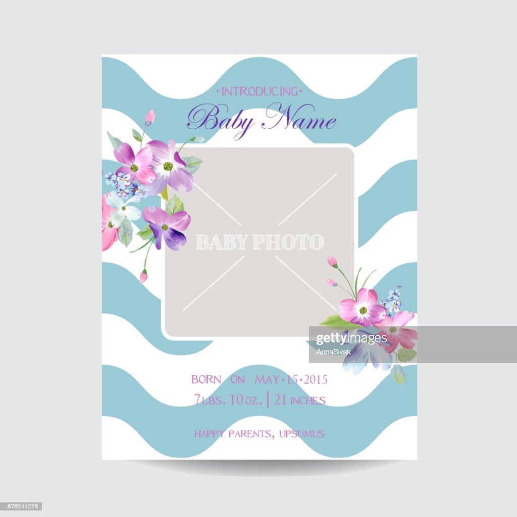 Baby Blumen Einreisekarte Save The Date Blühender Frühling Und ...