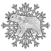 Baby bear in the tracery style.