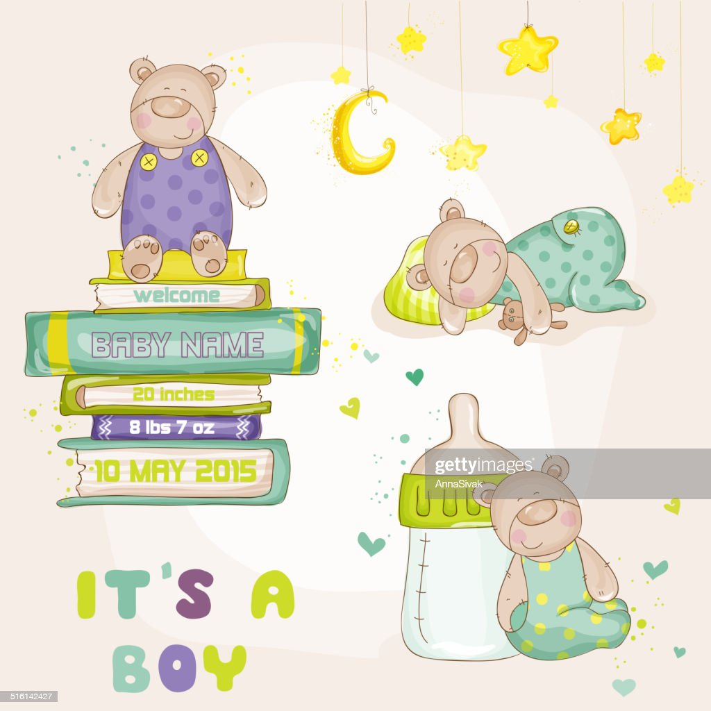 Baby Bear Set - Baby Shower or Baby Arrival Cards