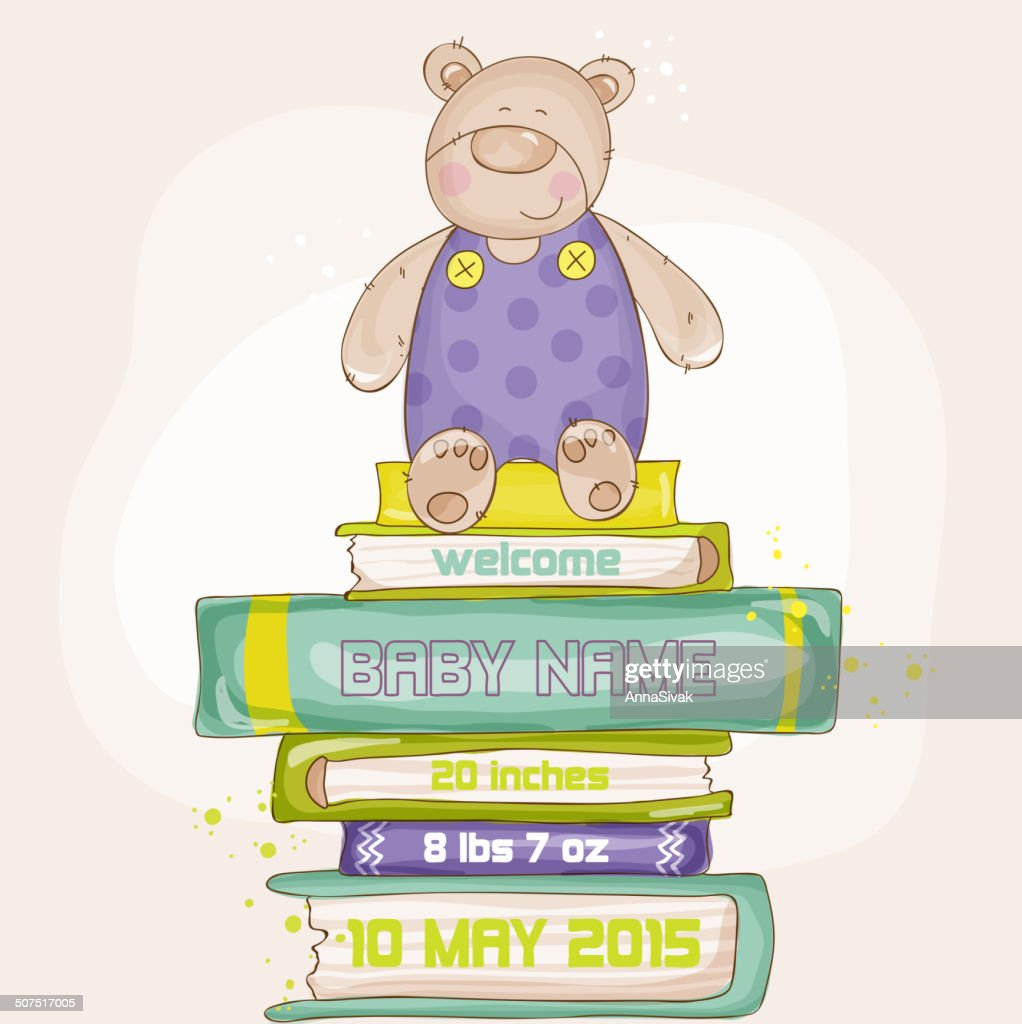 Baby Bear Shower or Arrival Card