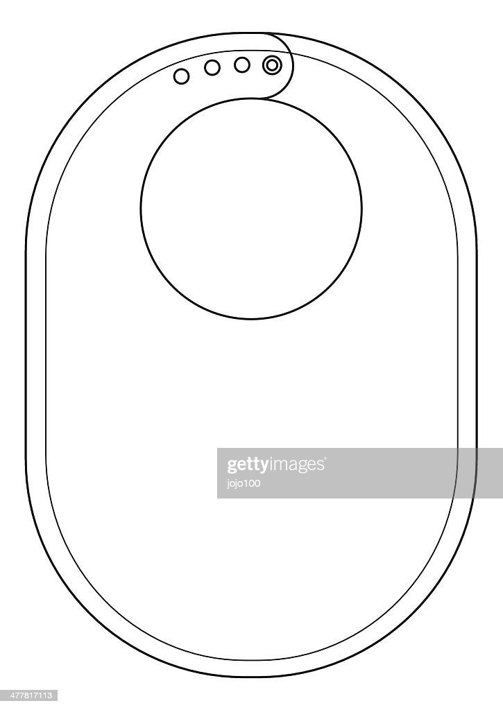Baby Bib Template Outline High-Res Vector Graphic - Getty ...