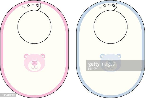 Baby Bibs with Cute Bear Icon