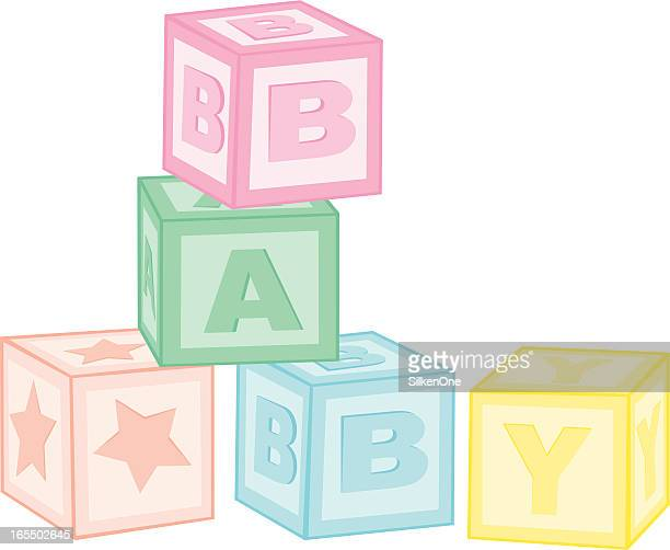 baby blocks - bloco stock illustrations
