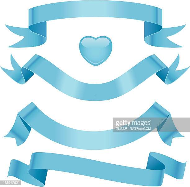 baby blue ribbons - flaccid stock illustrations, clip art, cartoons, & icons