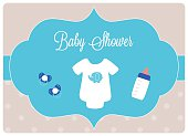baby bodysuit with pacifiers and baby bottle
