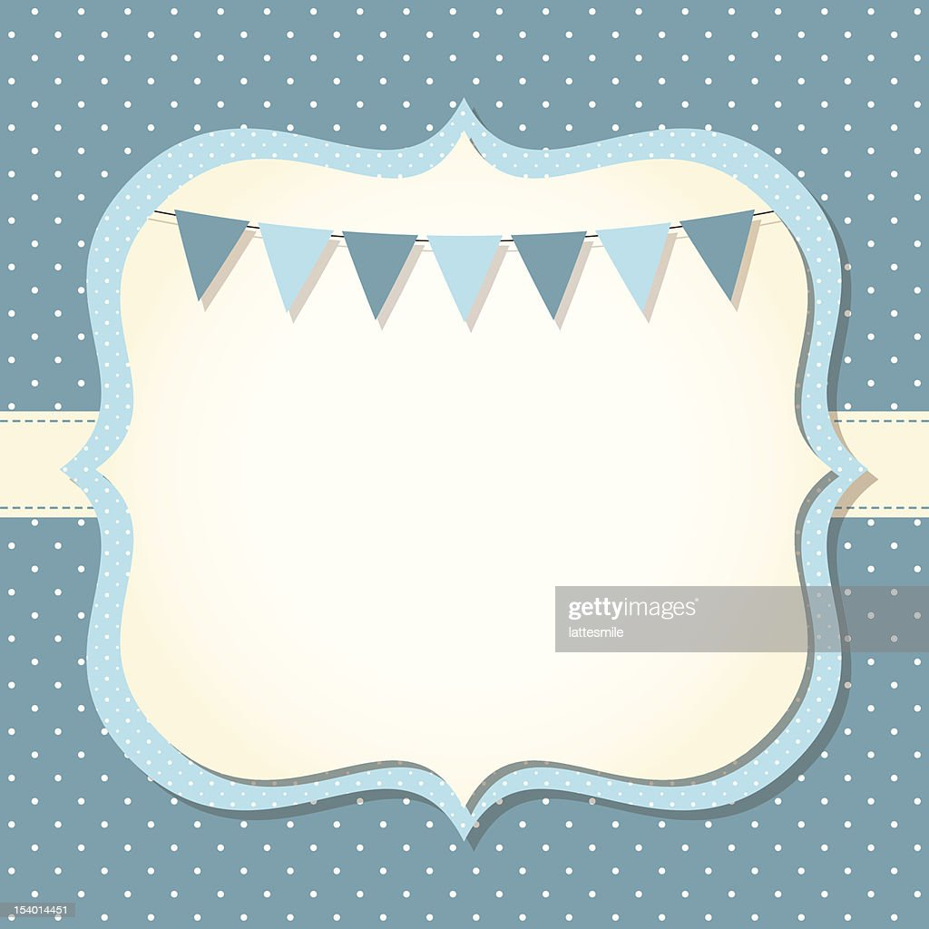Baby boy arrival or shower card