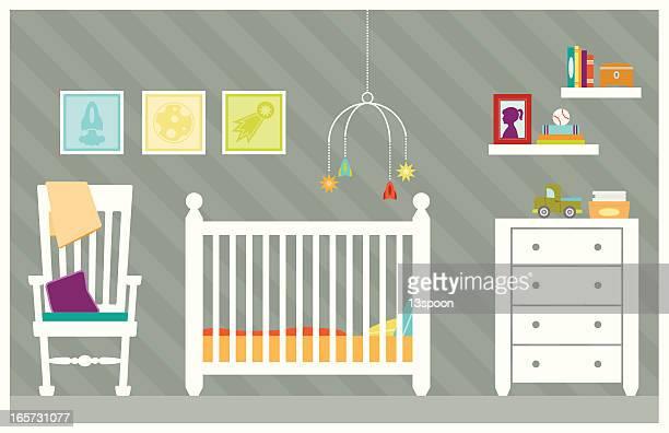 ilustraciones, imágenes clip art, dibujos animados e iconos de stock de baby boy habitación - baby blanket
