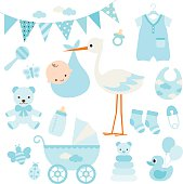Baby Boy Shower and Baby Items