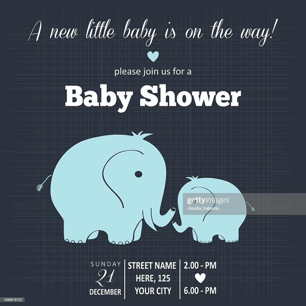 Tarjeta de ducha de niño bebé : Arte vectorial