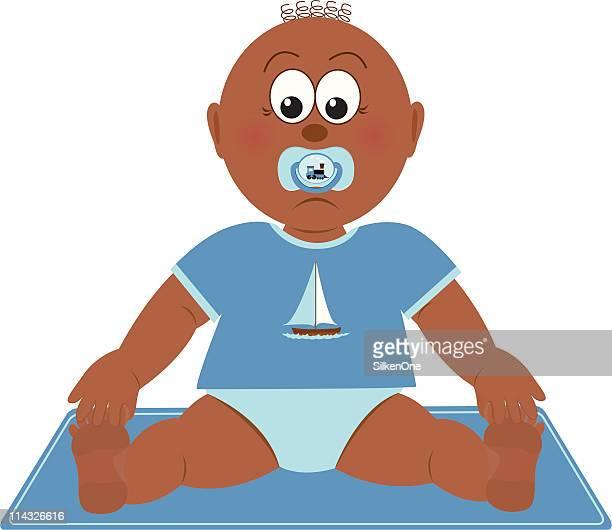 baby boy - baby blanket stock illustrations, clip art, cartoons, & icons
