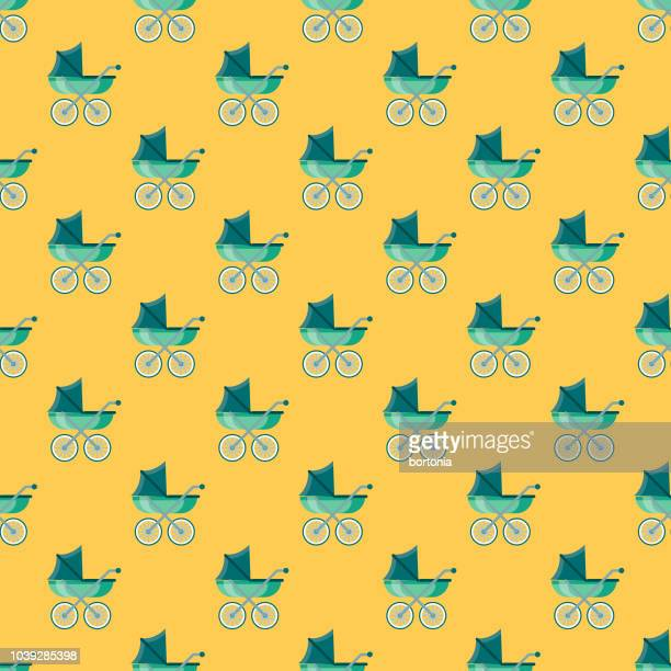 Baby Buggy Seamless Pattern