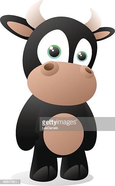 ilustraciones, imágenes clip art, dibujos animados e iconos de stock de bebé bull historieta - ternera