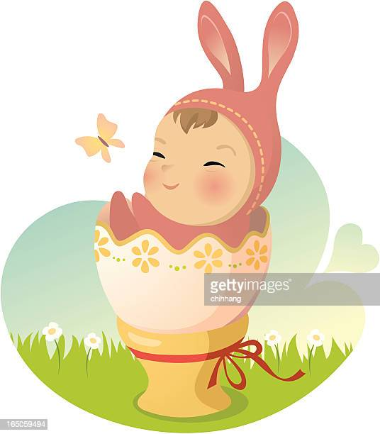 baby bunny - easter bunny costume stock illustrations, clip art, cartoons, & icons