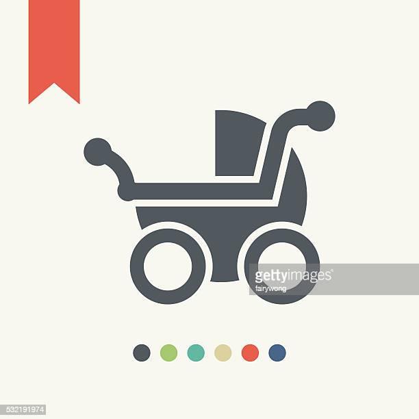 illustrations, cliparts, dessins animés et icônes de landau icône - assistante maternelle